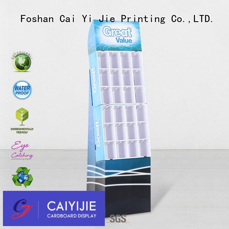 counter hook display stand printing marketing OEM hook display stand CAI YI JIE