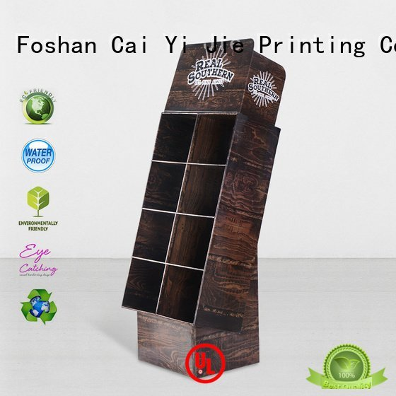 CAI YI JIE Brand plastic clip display cardboard greeting card display stand