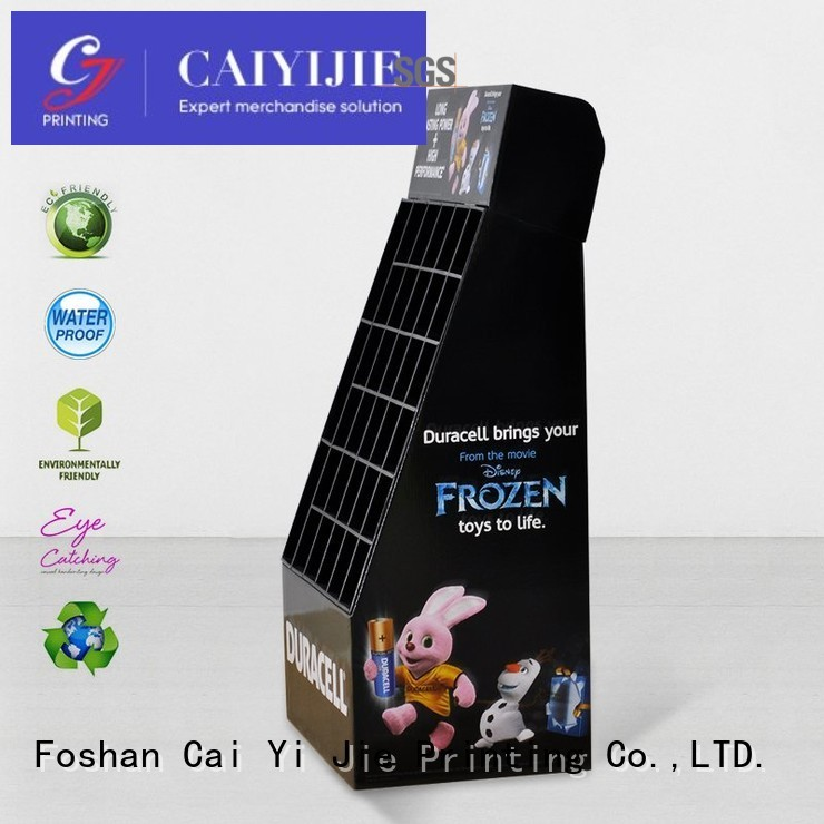 cardboard greeting card display stand point fashion CAI YI JIE Brand