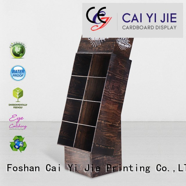 CAI YI JIE Brand tube floor cardboard greeting card display stand space chain