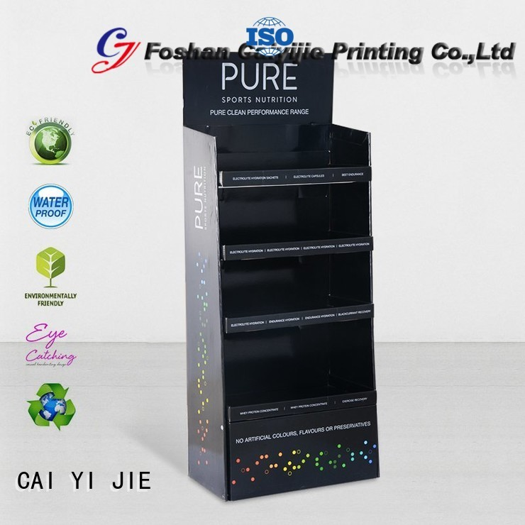 cardboard greeting card display stand point plastic cardboard stand printed company