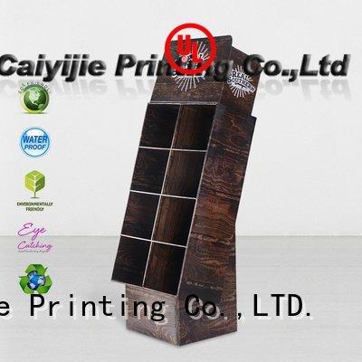 cardboard greeting card display stand step cardboard stand chain CAI YI JIE