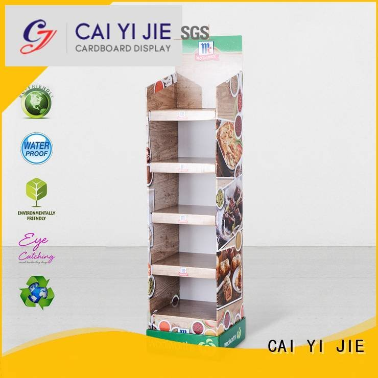 cardboard greeting card display stand Other products Material OEM cardboard stand CAI YI JIE