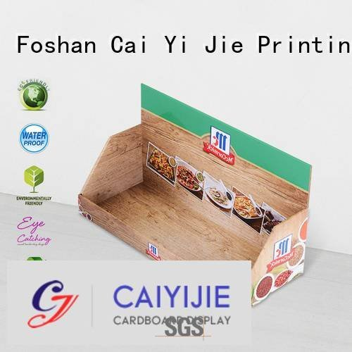 stands cardboard display boxes CAI YI JIE custom cardboard counter displays