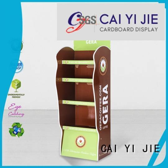 Quality cardboard greeting card display stand CAI YI JIE Brand Printing cardboard stand