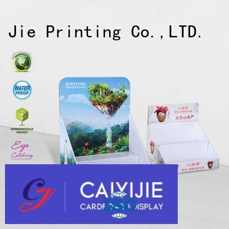 Quality custom cardboard counter displays CAI YI JIE Brand product cardboard display boxes