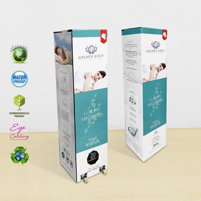 Printed Packaging Box With Wheel For Retail