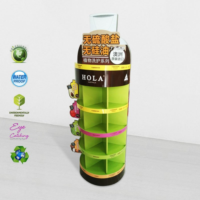 5 Shelves Cardboard Display Stand for Heavy Products