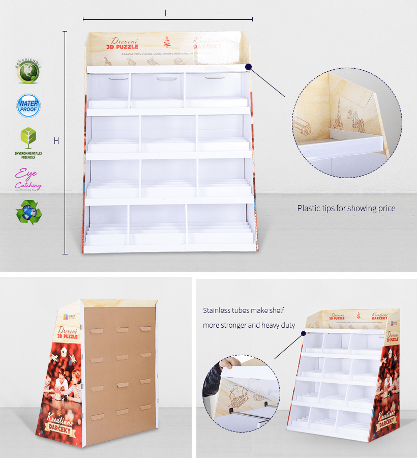 Color Cardboard Stand With Stainless Tube
