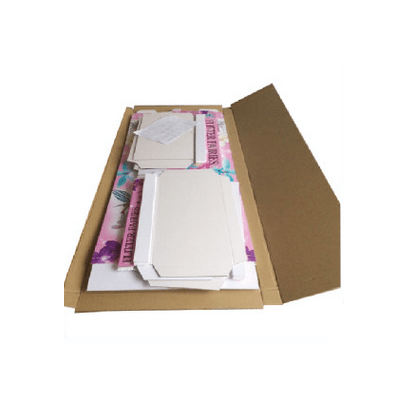 Color Cardboard Stand With Stainless Tube packaging
