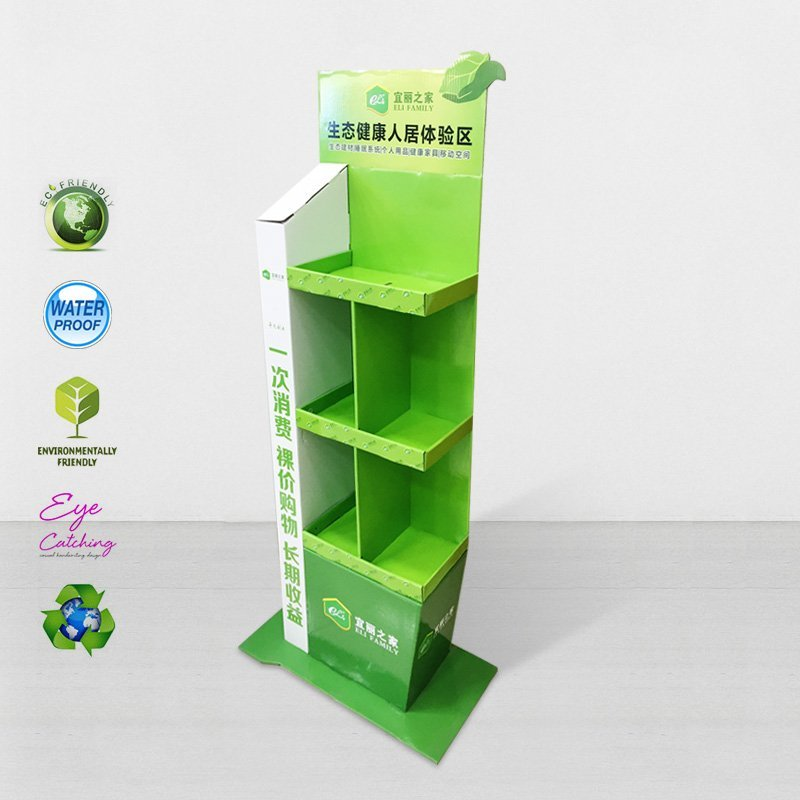 Cardboard Modeling Display For Green Items