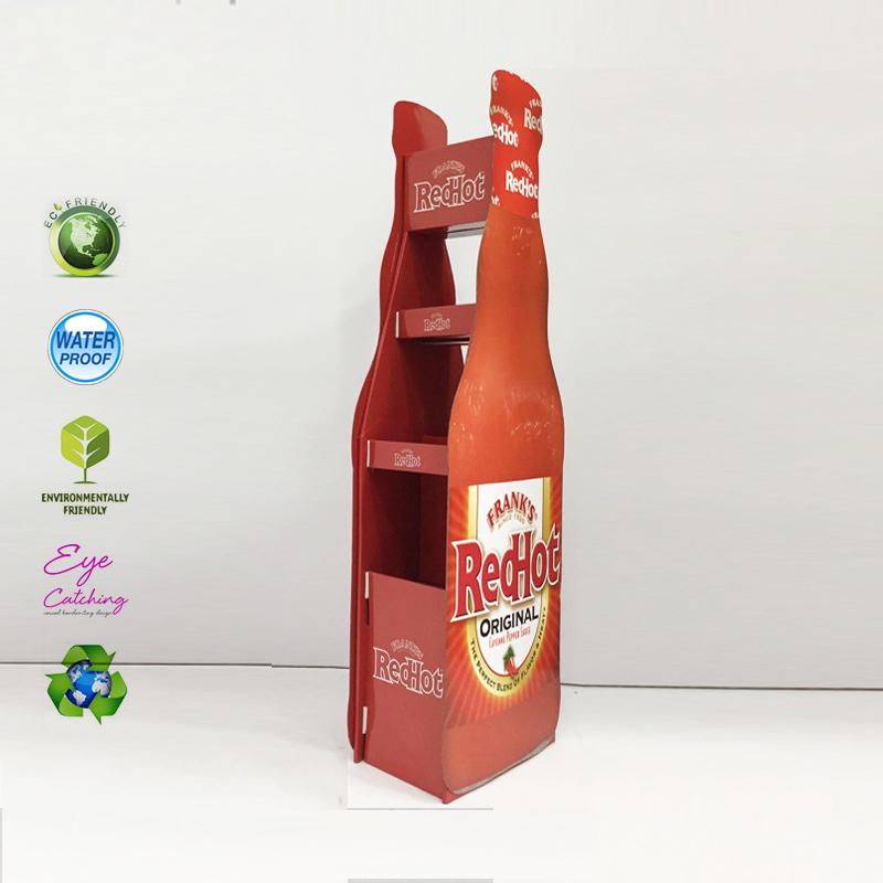 Cardboard Beer Bottle Display Rack For Hot Sale Drink Milk Soft Drink