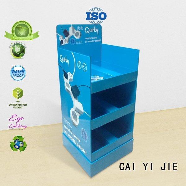 printed cardboard cardboard greeting card display stand promotional cardboard stand CAI YI JIE Brand retail display