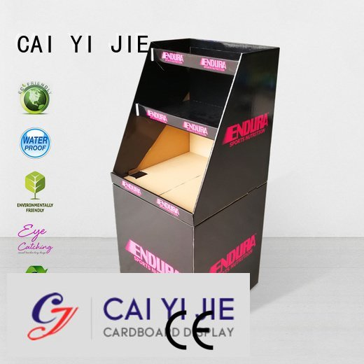 CAI YI JIE Brand header cardboard dump bins for retail merchandising displays