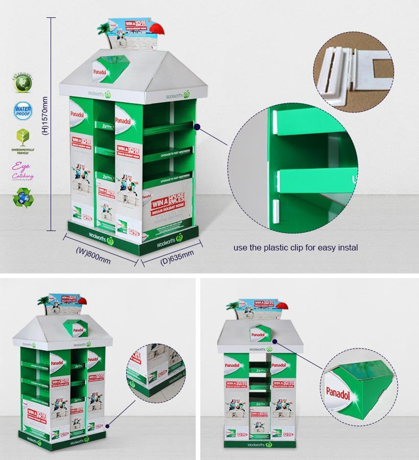 Promotional Pallet Display Stands For Woolworths Chain Store