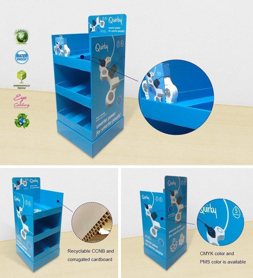 Multi-Function Socket Paper Shelf Display Stand