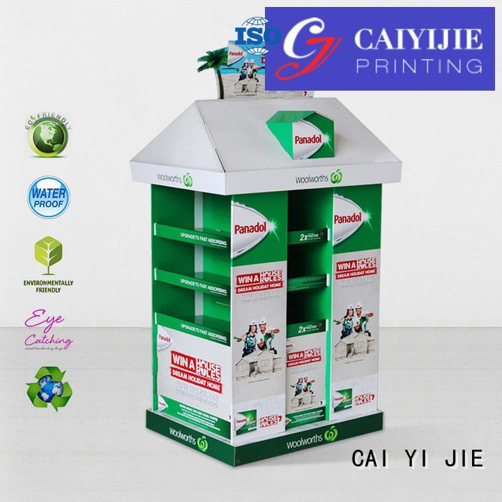 CAI YI JIE Brand sales cardboard promoting pallet display square
