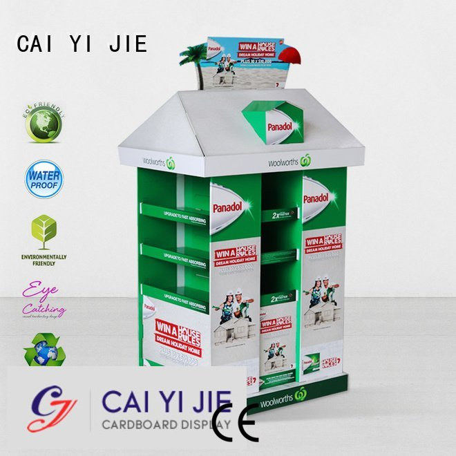 CAI YI JIE racks pallet display install easy