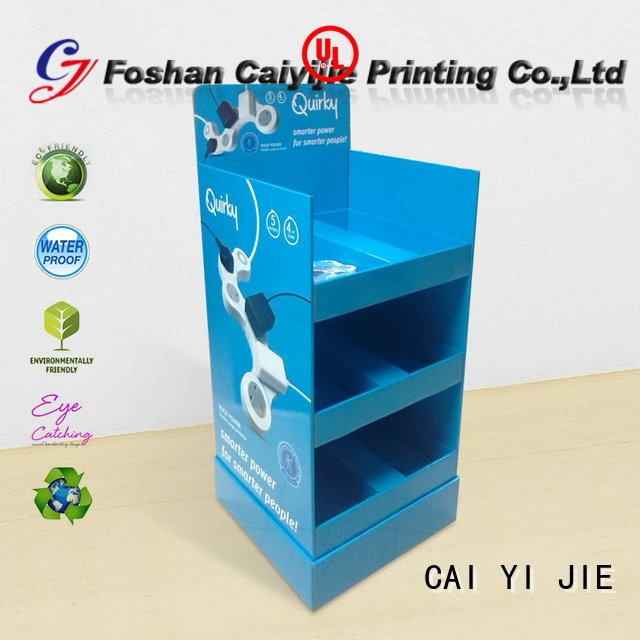 Multi function socket paper shelf display stand tube stair step cardboard greeting card display stand cai yi jie m4hsunfo