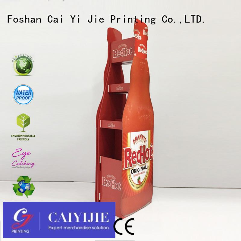 space super cardboard stand retail CAI YI JIE company