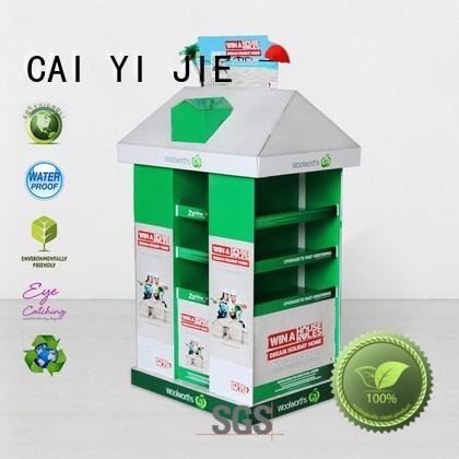 Wholesale square mobile pallet display CAI YI JIE Brand