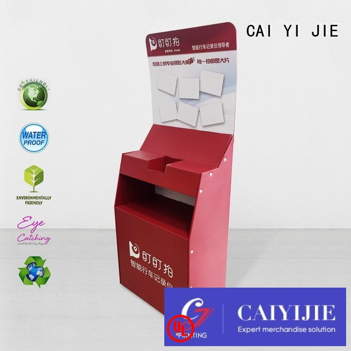 stands plastic printing cardboard stand space CAI YI JIE