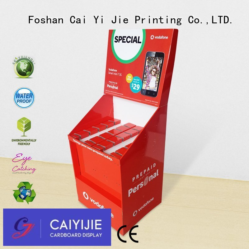 counter hook display stand advertising step marketing CAI YI JIE Brand hook display stand