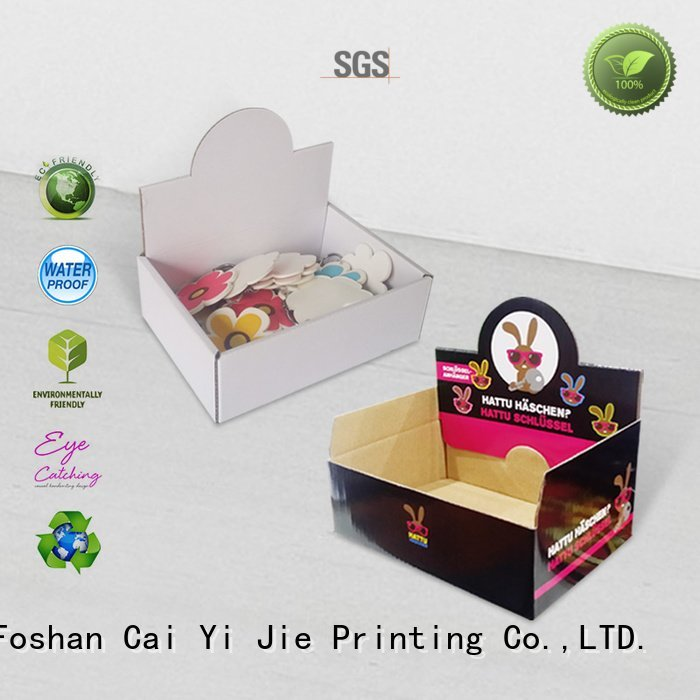 CAI YI JIE Brand product units cardboard display boxes printed stands