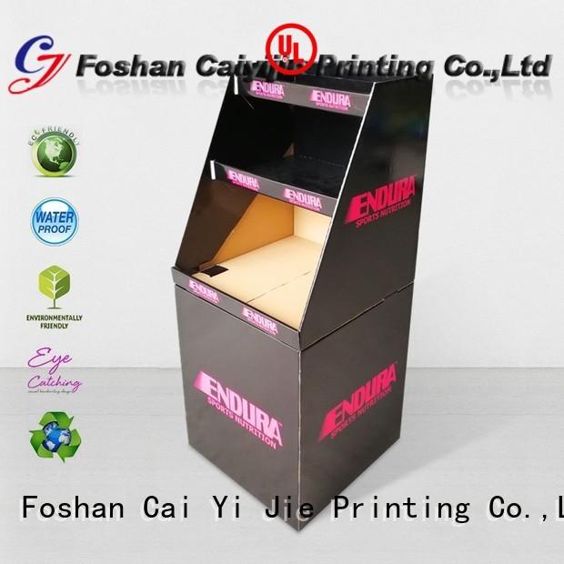 floor merchandising dumpbin cardboard CAI YI JIE Brand