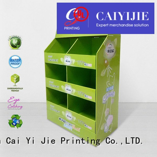 cardboard pallet display corrugated clip stores CAI YI JIE